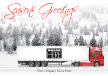 On the Road Transportation Holiday Logo Cards